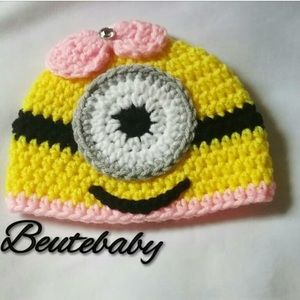 Other - 0-3Month Minion girl hat